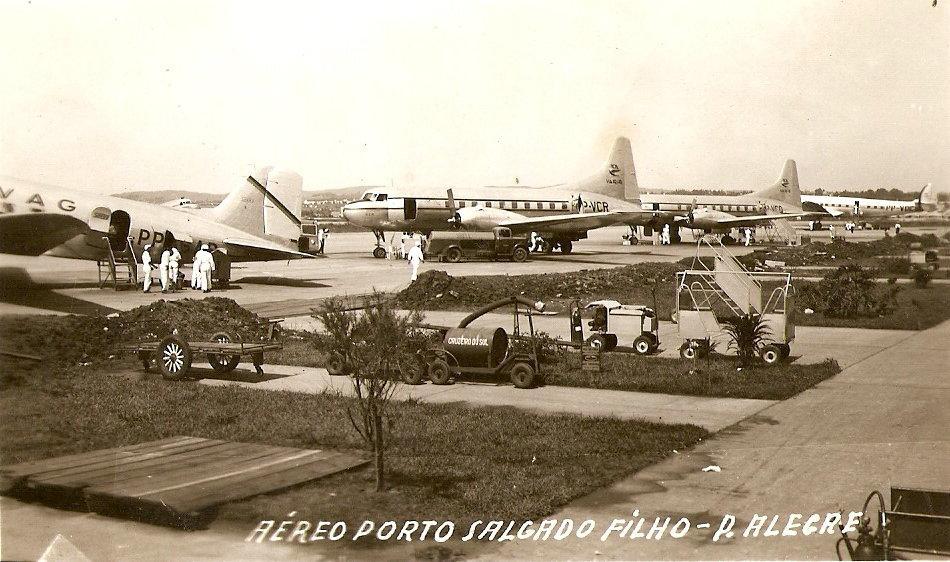 Porto Alegre - Aeroporto Salgado Filho na década de 1950.