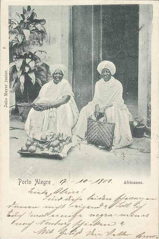 Porto Alegre - Postal de Africanas em 1901.