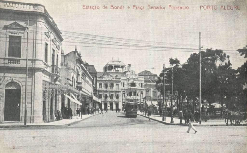Porto Alegre Estação de Bondes Praça da Alfândega(Senador Florêncio).