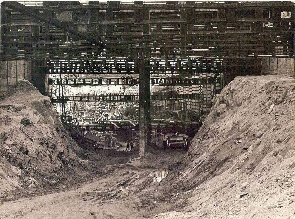 Porto Alegre - Obras do Túnel da Conceição em 1970.