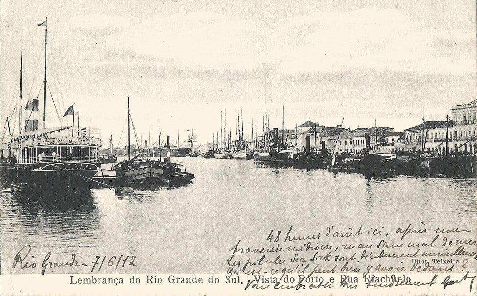 Rio Grande - Vista do Porto e Rua Riachuelo.