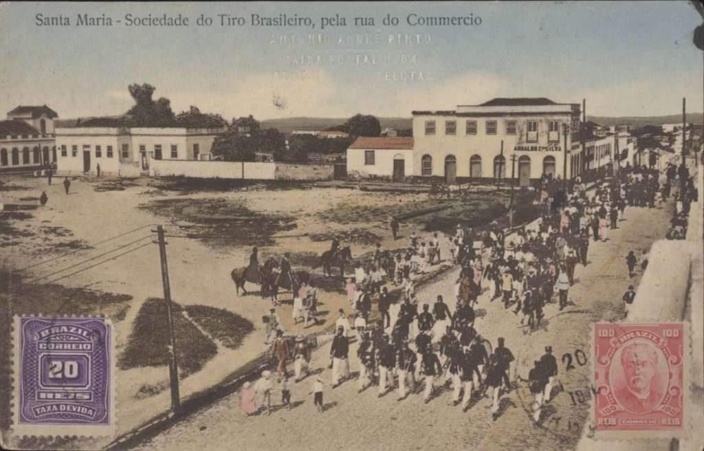 Santa Maria - Sociedade do Tiro Brasileiro na Rua do Comércio.
