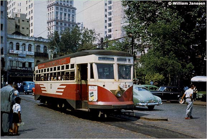 Porto Alegre - Bonde Auxiliadora(Staten Island) em 1957.