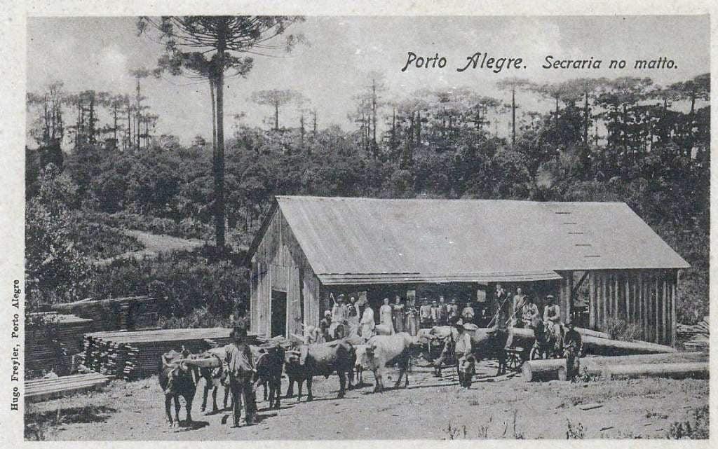 Porto Alegre - Serraria no mato em 1920.