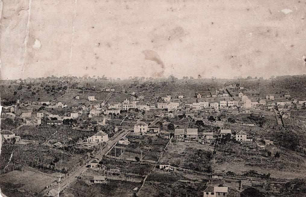 Bento Gonçalves - Postal do centro na década de 1910.