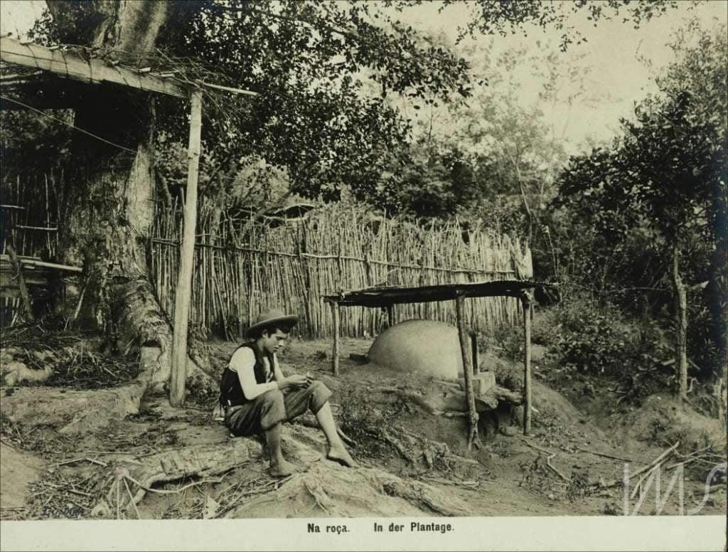 Porto Alegre - Homem na roça em 1900.