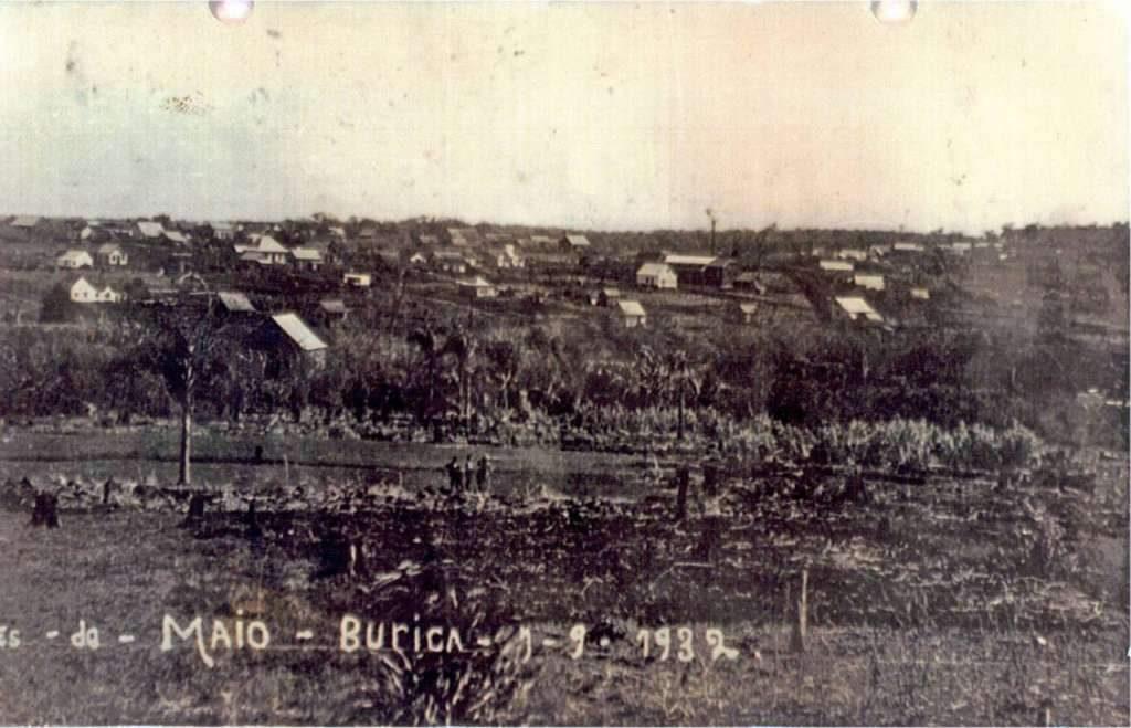 Três de Maio - Burica em 1932.