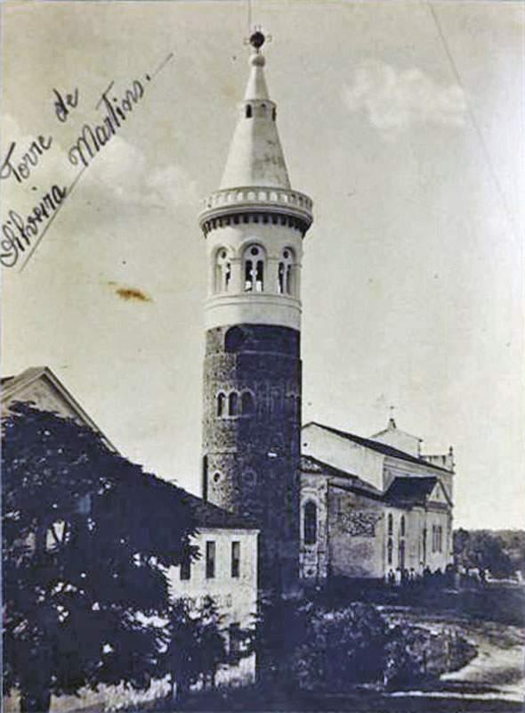 Silveira Martins Torre e Colégio Bom Conselho(acervo Otavio Zorzi)