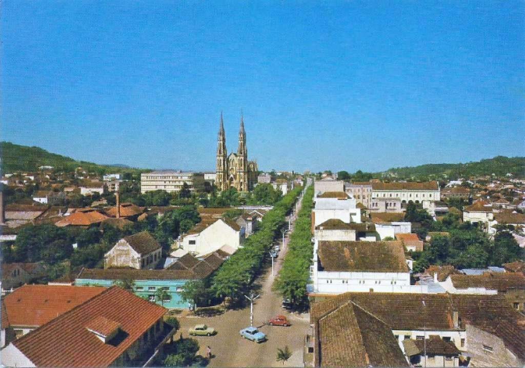 Santa Cruz do Sul - Vista na década de 1970.