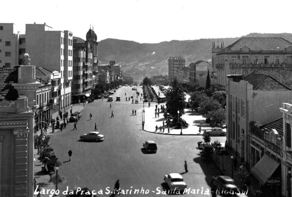 Santa Maria - Praça Saldanha Marinho.