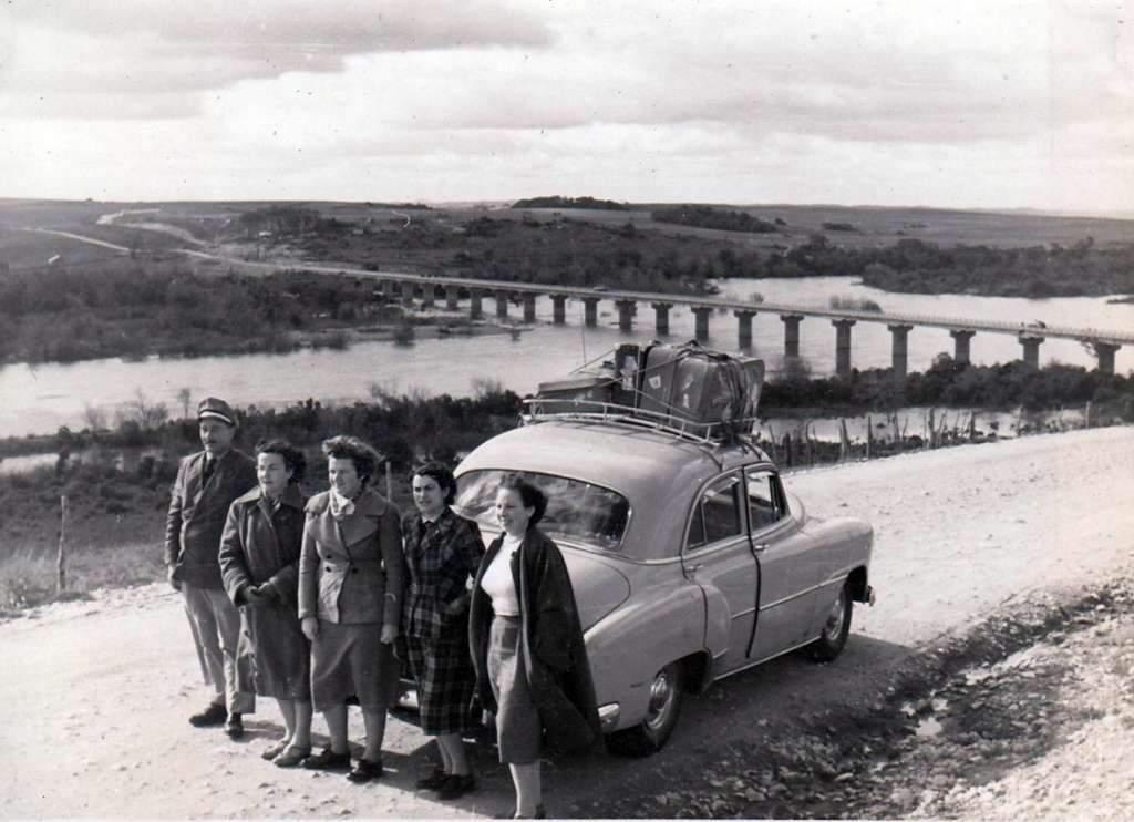 Camaquã - Ponte na década de 1950.