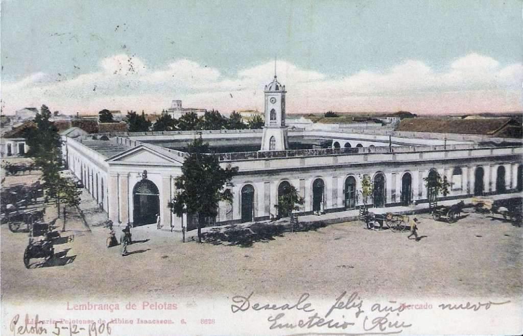 Pelotas - Mercado Público na década de 1900.