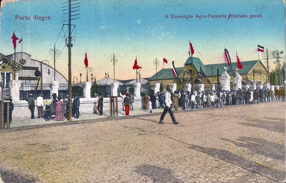 Porto Alegre - Postal II Exposição Agropecuária na década de 1930.