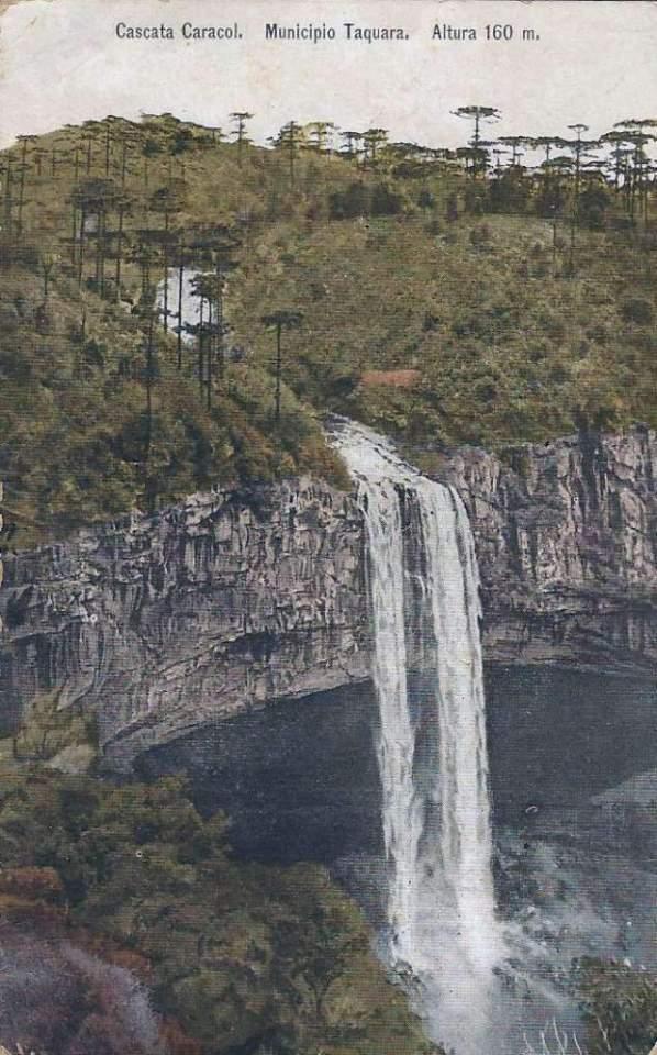 Taquara - Cascata Caracol com 160 metros.