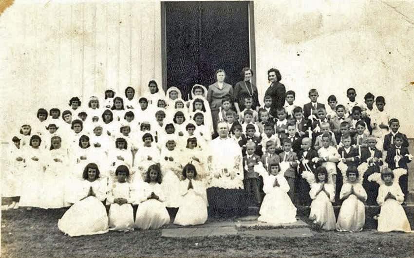 Boqueirão do Leão - Primeira comunhão década de 1950.