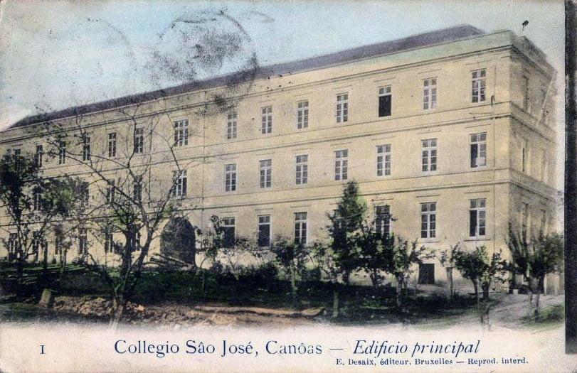 Canoas - Postal do edifício principal do Colégio São José.