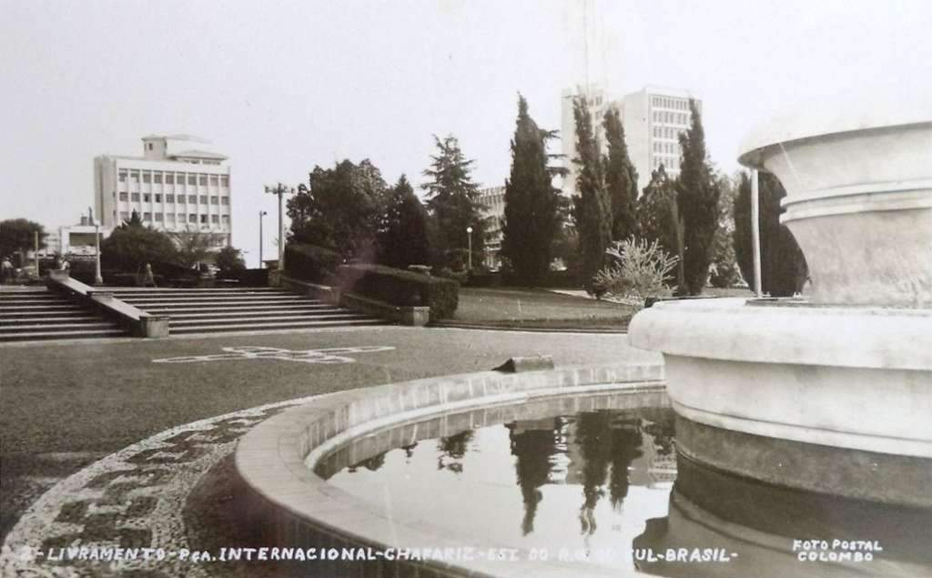 Livramento - Praça Internacional e chafariz.