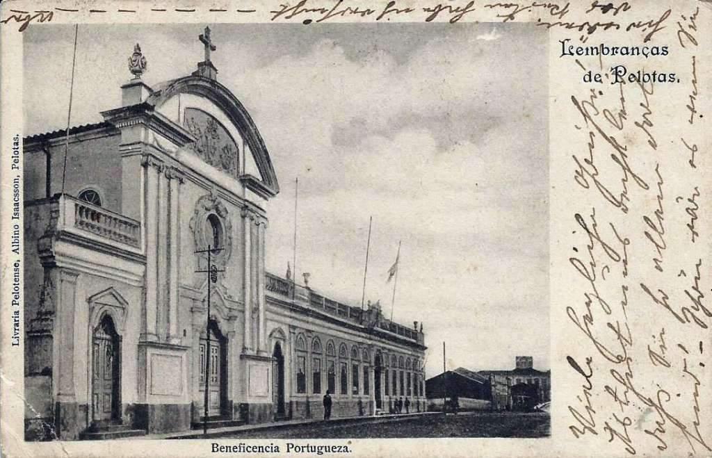 Pelotas - Postal Beneficência Portuguesa no início do século XX.