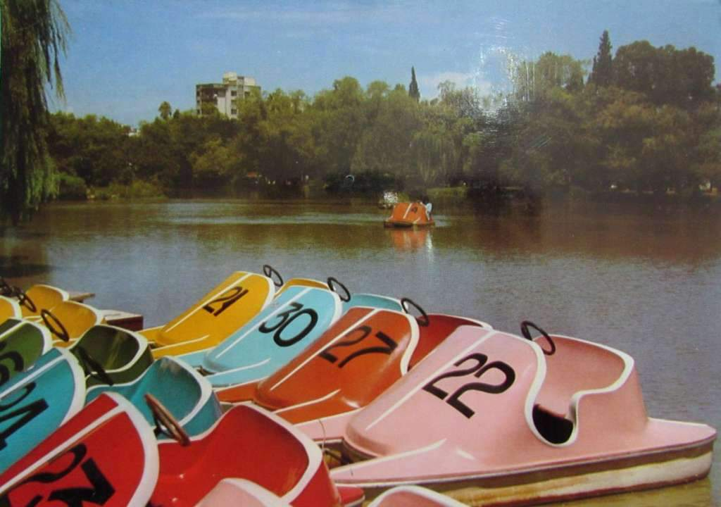 Porto Alegre - Postal Parque Farroupilha(Redenção), lago e pedalinhos na década de 1970.
