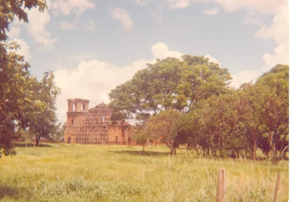 São Miguel das Missões - Ruínas em 1980.