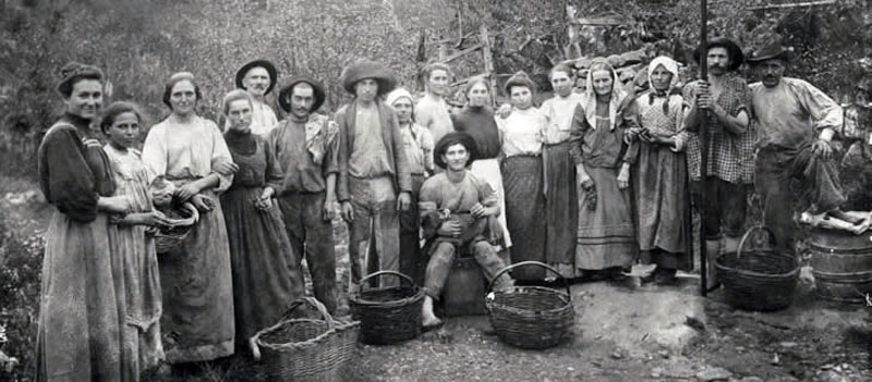 Caxias do Sul - Família de Albino Postali e Rosa Frizera Postali em 1911.