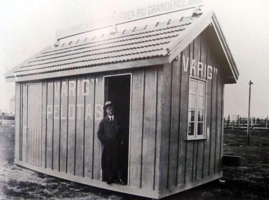 Pelotas - Abrigo de passageiros da Varig na década de 1920.