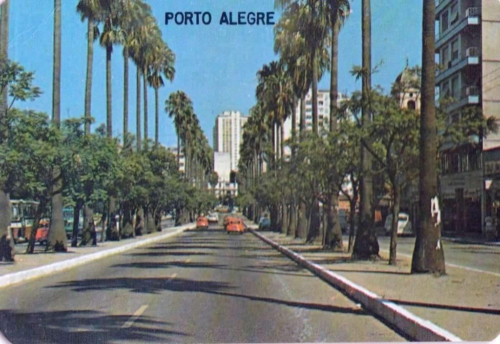 Porto Alegre - Av Oswaldo Aranha(Calendário de bolso ) em 1982.