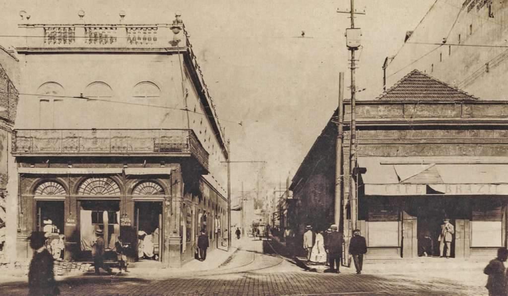 Porto Alegre - Beco do Rosário na década de 1920.