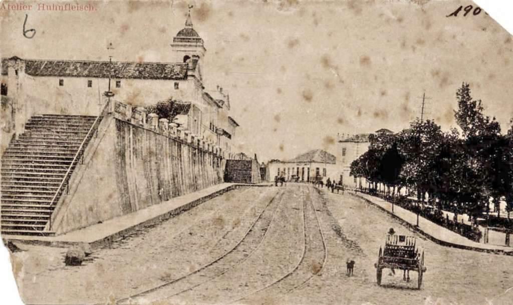 Porto Alegre - Cartão postal da Santa Casa de Misericórdia no início do século XX.
