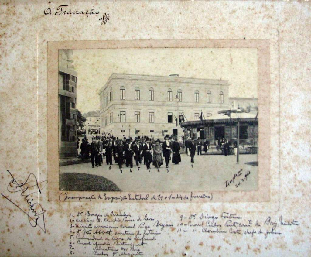 Porto Alegre - Personalidades na inauguração da exposição estadual de 1901.