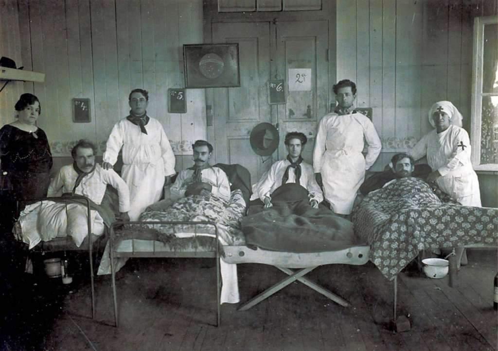 Erechim - Hospital na Revolução de 1923.