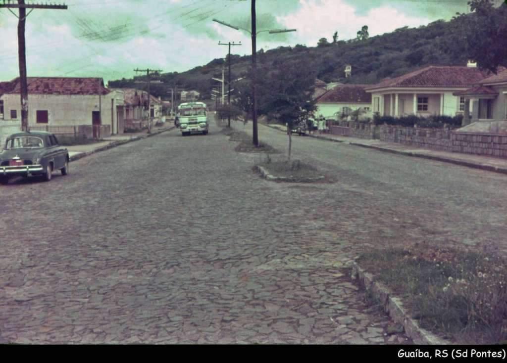 Guaíba - Rua 7 de setembro na década de 1960.