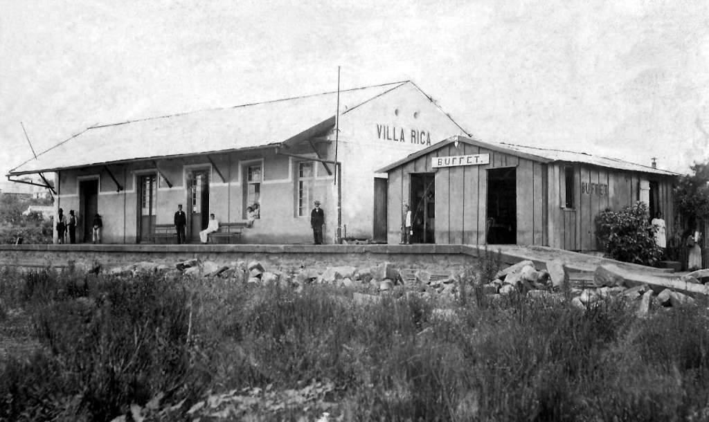 Júlio de Castilhos - Estação Villa Rica no início do século XX.