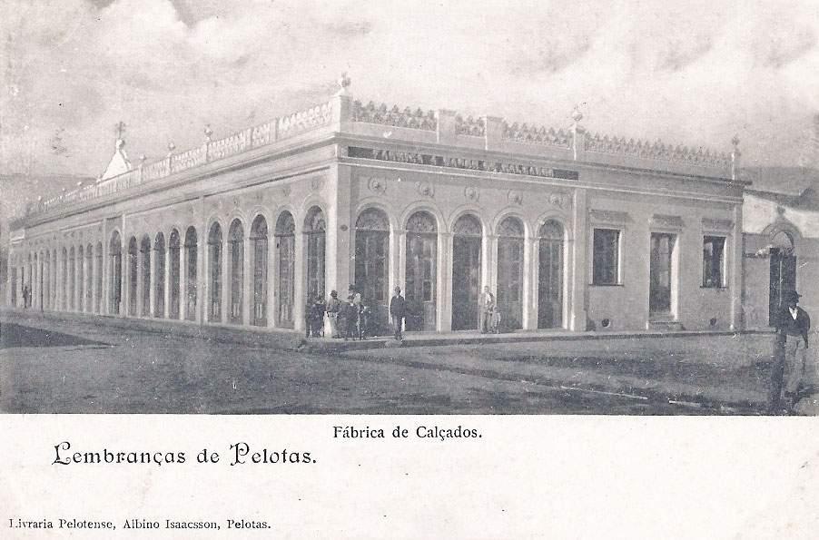 Pelotas - Postal de Fábrica de Calçados em 1904.