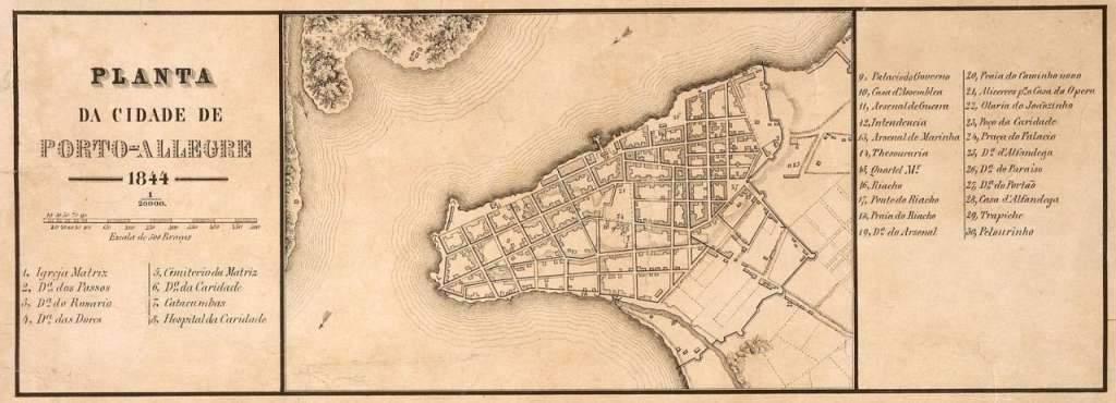 Porto Alegre - Planta de 1844.