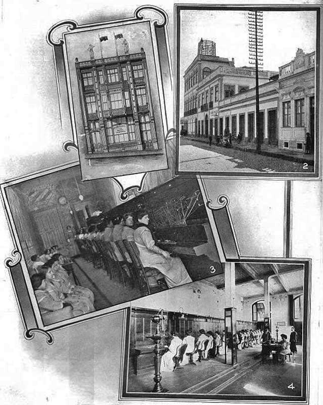 Porto Alegre - Companhia Telefônica Rio-Grandense no início do século XX.