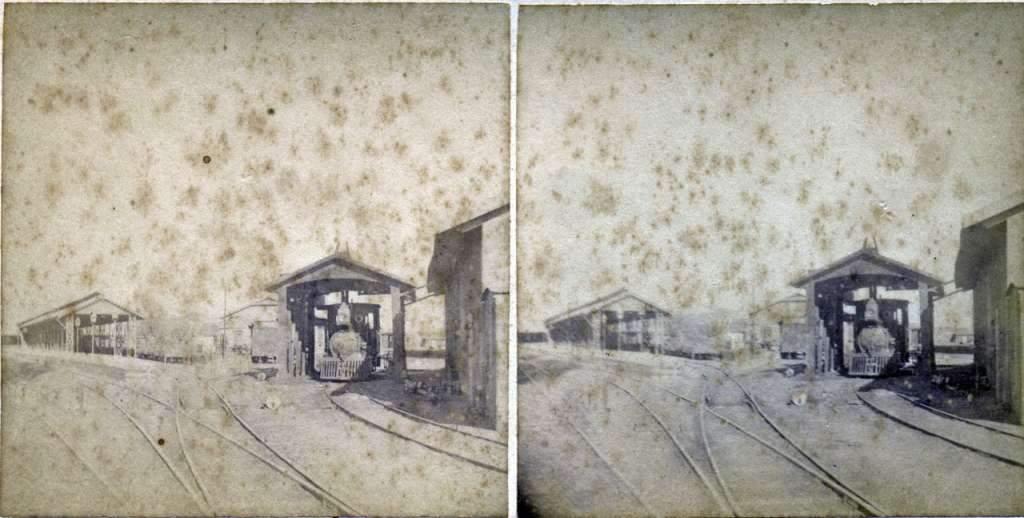 Porto Alegre - Estação Ferrovia no final do século XIX.