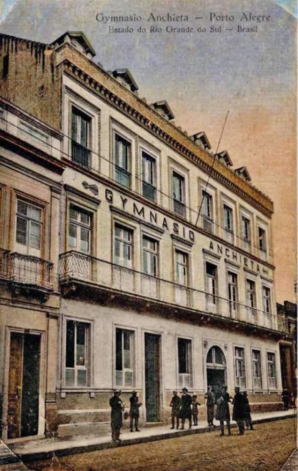 Porto Alegre - Ginásio Anchieta no início do século XX.