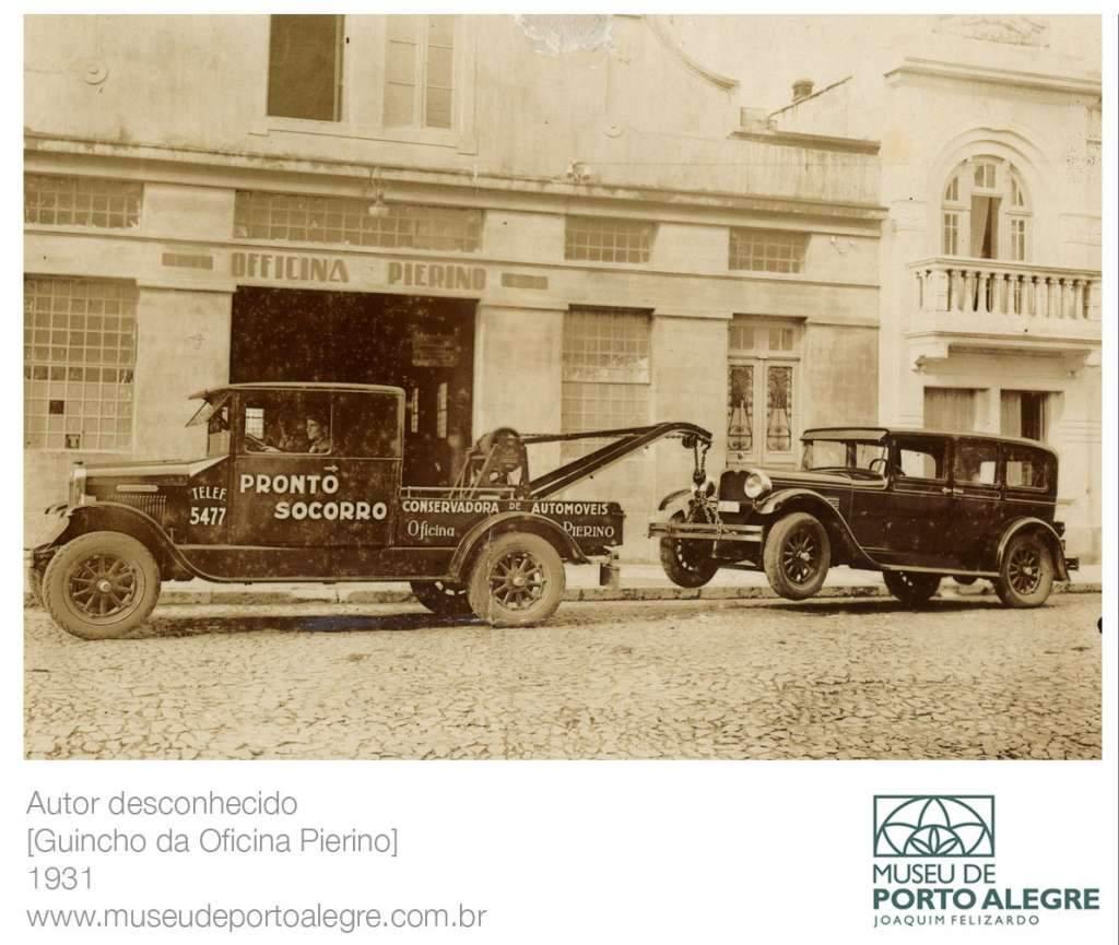 Porto Alegre - Guincho da Oficina Pierino em 1931.
