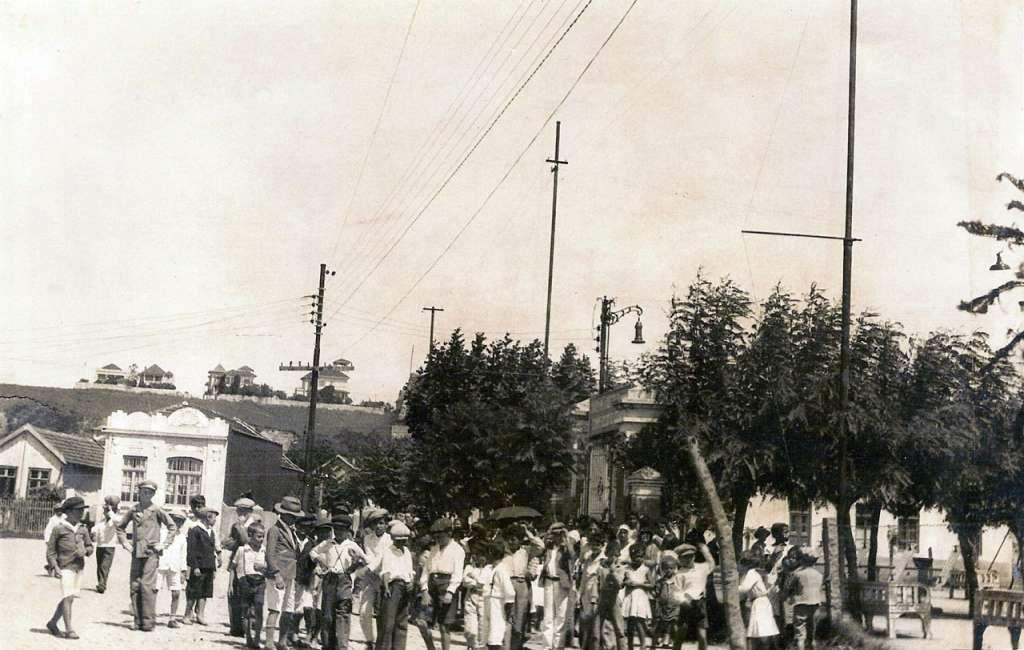 Porto Alegre - Lazer em praça pública na década de 1930.