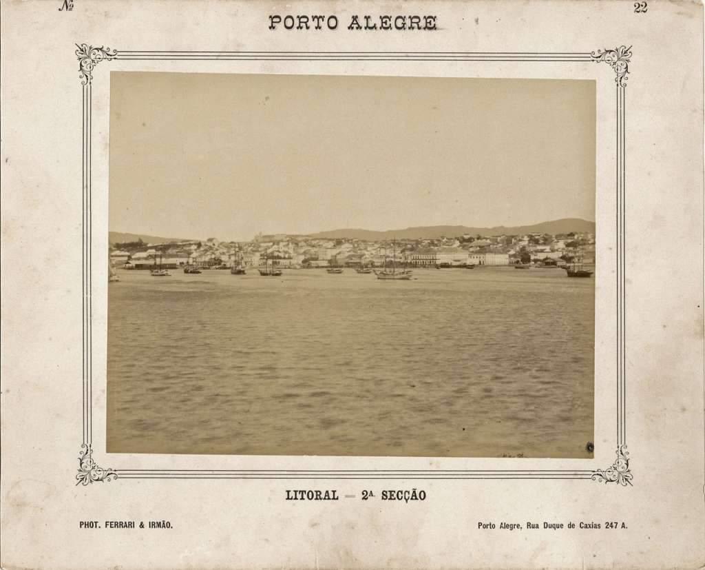 Porto Alegre - Litoral em 1888.