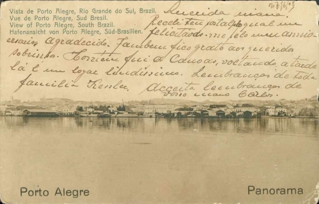 Porto Alegre - Postal Vista do Guaíba no início do século XX.