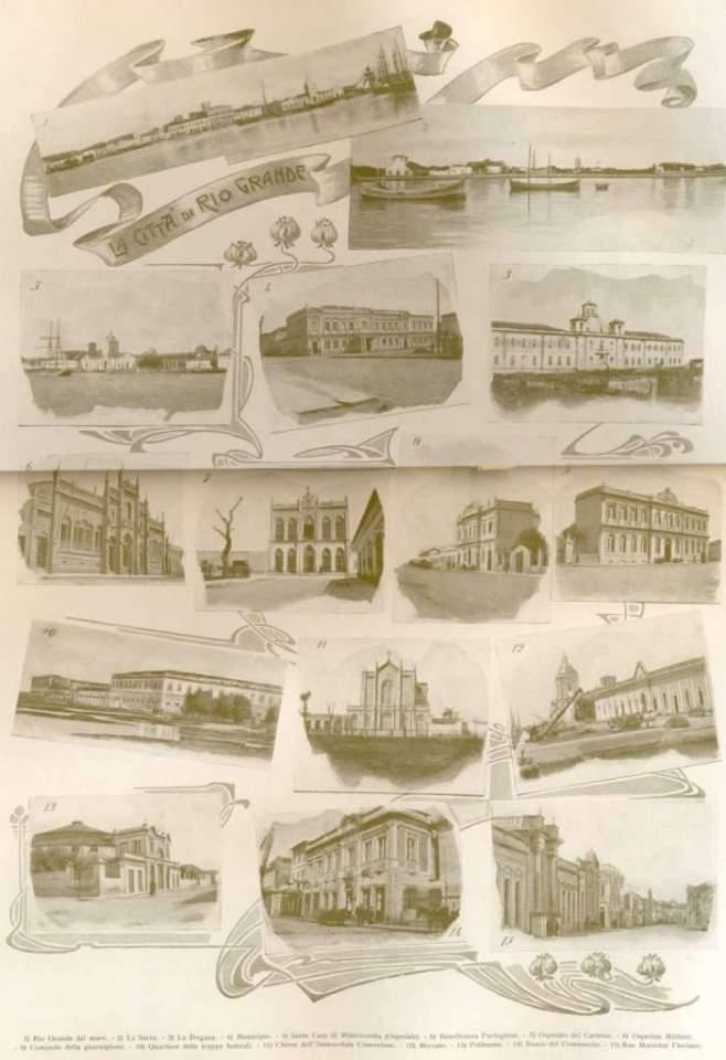 Rio Grande - Vistas e locais da cidade em 1906.