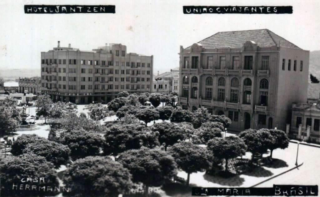 Santa Maria - Hotel Jantzen e União Viajantes na década de 1940.