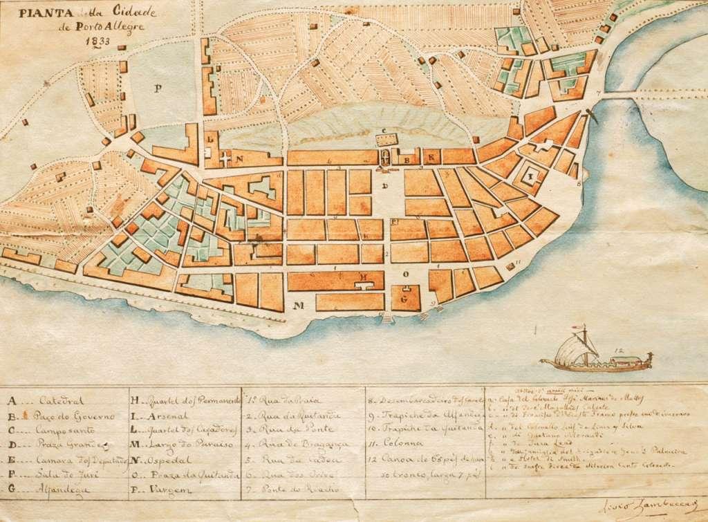 Porto Alegre - Planta de 1833.