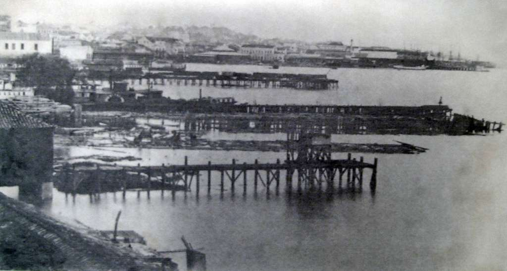 Porto Alegre - Cais no final do século XIX.