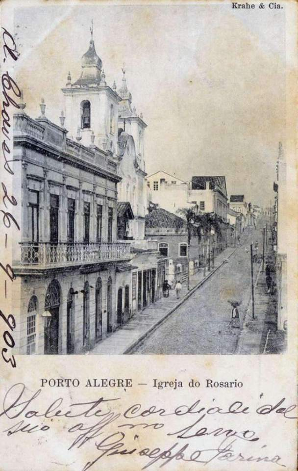 Porto Alegre - Igreja do Rosário no início do século XX.