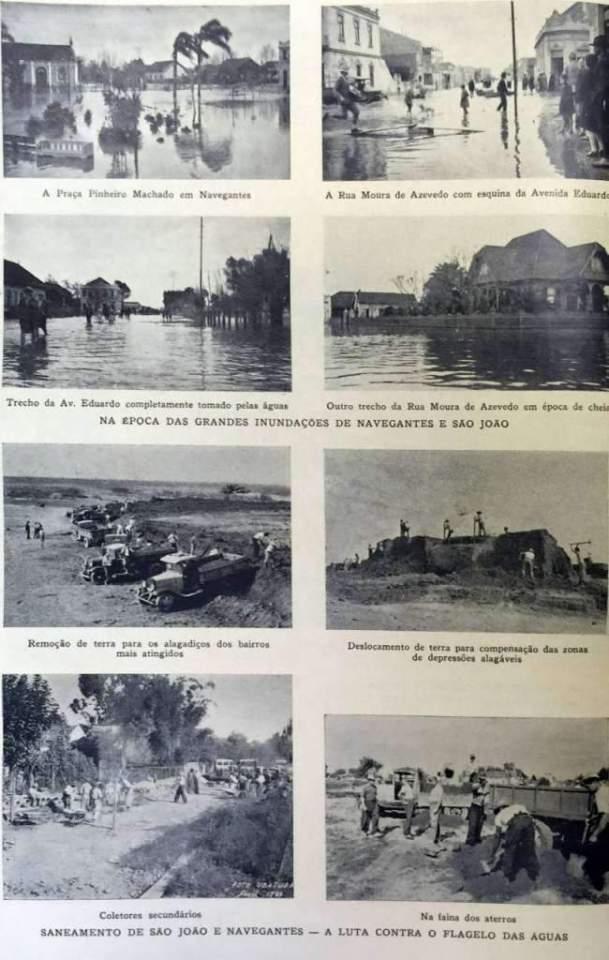 Porto Alegre - Inundações e saneamento dos Bairros Navegantes e São João na década de 1930.