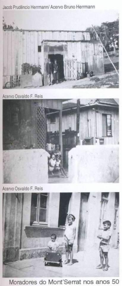 Porto Alegre - Moradores do Bairro Mont'Serrat na década de 1950.