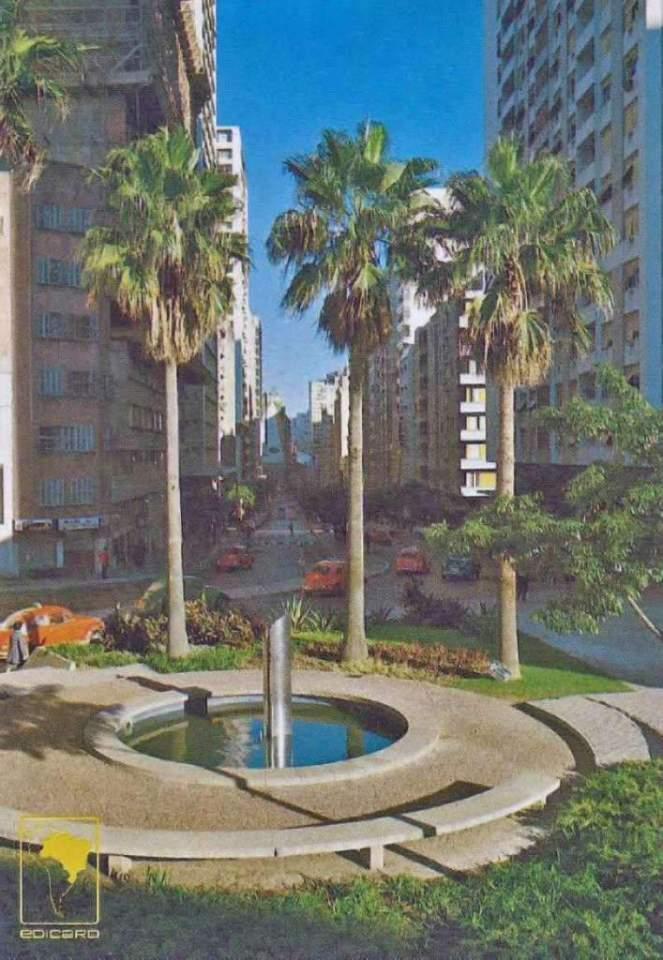 Porto Alegre - Postal Av Salgado Filho na década de 1970.